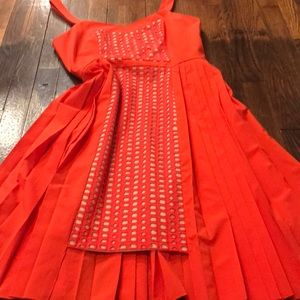Anthropologie Dresses - Pleated high-low color block sundress
